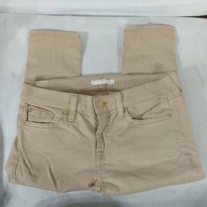 7 For All Mankind Gold Skinny Jeans - size 28